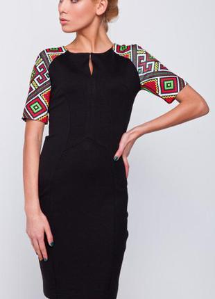 Платье с узором на рукаве от nenka