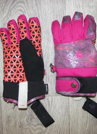 Перчатки лыжные 6-7 лет wedze франция рост 116-122 см краги на девочку