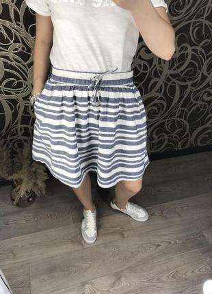 Крутая/юбка/под спорьте/l/xl/лён/кармашки