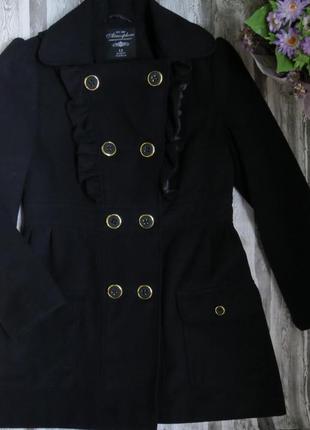 Демисезонное пальто полупальто синего цвета размер 42-44