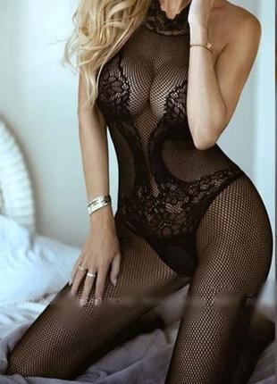 Эротический сексуальный😍 комбинезон боди сетка sexy белье бодистокинг body stocking с-09😍