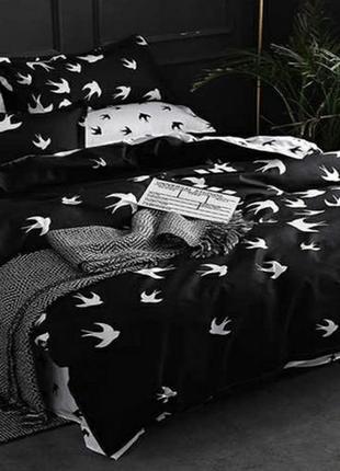 Постельное белье ранфорс ласточки птицы