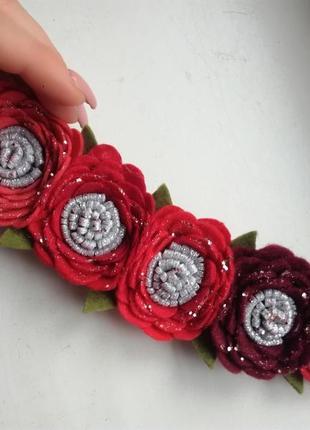 Повязка, повязочка для девочки, красная повязочка
