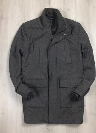 F9 мужское пальто полушерстяное linea серое