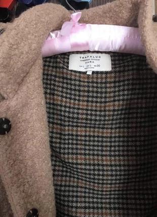 Шерстяне оверсайз пальто zara3 фото