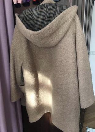 Шерстяне оверсайз пальто zara4 фото