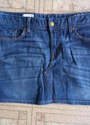 Юбка джинсовая размер 14