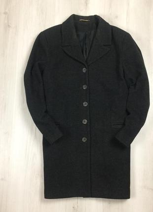 F9  мужское шерстяное пальто george серое темное шерсть