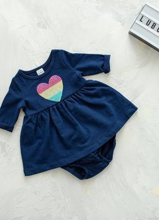 Платье для девочек с сердцем от картерс