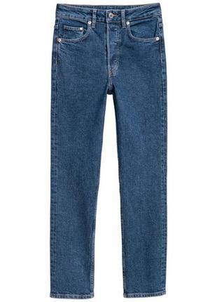 Плотные джинсы на высокой талии