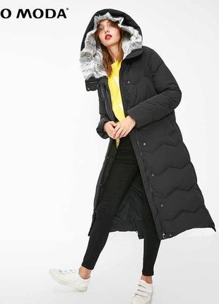 Длинный зимний пуховик женский vero moda хс пуховое пальто