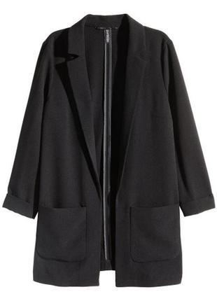 Стильный блейзер черного цвета от h&m