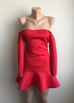 Платье красное секси
