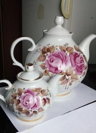 Подарочный набор чайничков, керамика
