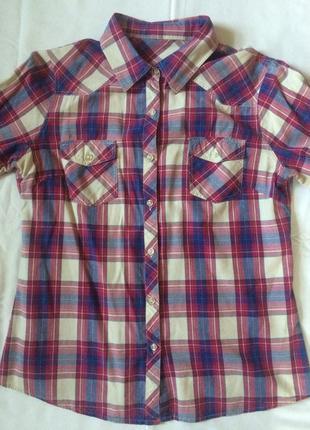Клетчая прикольная рубашкка