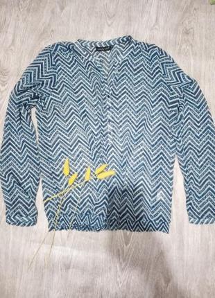 Шифоновая блуза с рукавом