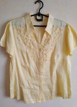 Хлопковая блузка рубашка gerry weber оригинал