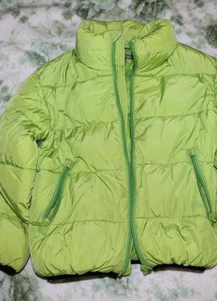 Куртка пуховик h&m 122