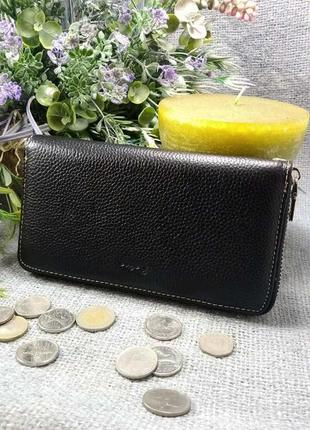 Большой кожаный кошелек-клатч арлекин,100% натуральная кожа, есть доставка бесплатно