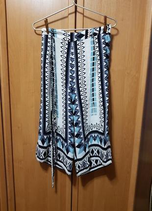 Летние легкие короткие брюки, бриджи, короткие широкие яркие прикольные штаны, кюлоты