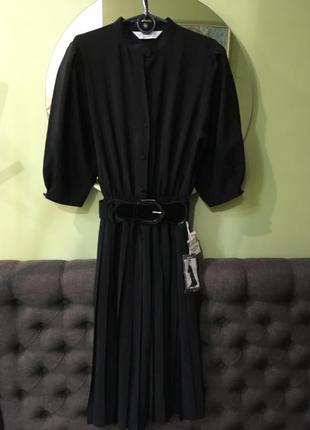 Платье плиссе в ретро стиле