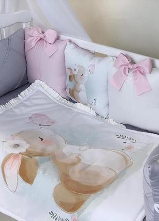 Комплект в кроватку, защита в кроватку, бортики в кроватку.