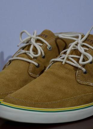 Ботинки lacoste suede shoes