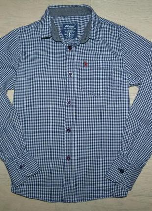 Рубашка в мелкую клетку rebel 10-11 лет