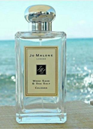 💓 шлейфовый парфюм jo malone wood sage & sea salt 100 мл духи джо малон морская соль