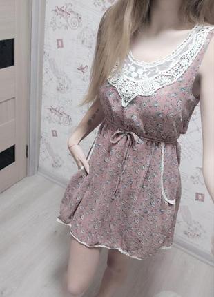 Шифоновое платье в цветочный принт с карманами #розвантажуюсь