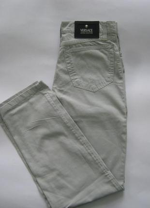 Джинсы тонкие,джинсы versace