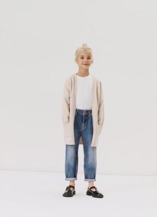 Новый удлиненный кардиган zara для девочки 6,8лет new коллекция 2020