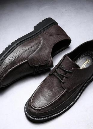 Итальянские туфли с кожаной подошвой