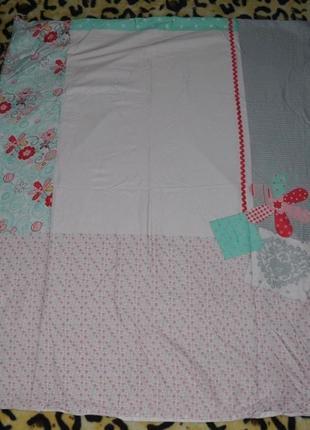 Качественный детский пододеяльник постель постельное белье нежные цветы цветочки