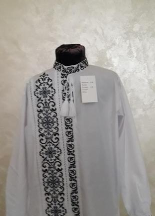 Ексклюзивна вишиванка для маленького модника(сіро-чорна вишивка)на сорочковій тканині5 фото