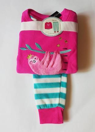 Пижамка флисовая, на 2-3,7-8 лет от dunnes, англия