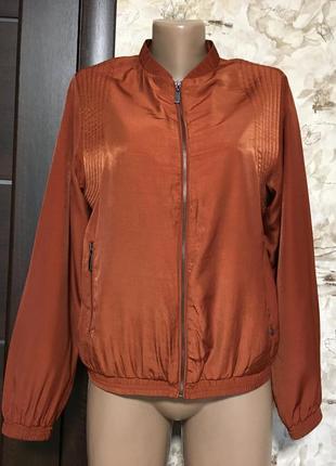 Терракотовый бомбер,куртка,ветровка garcia jeans