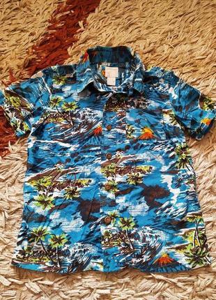 Летняя рубашка тенниска для мальчика. 116-128р.