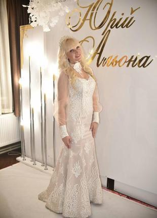 Весільна сукня типу випускного🕊