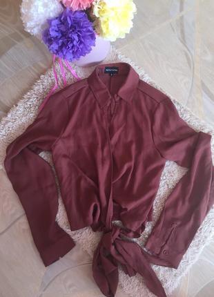 Шикарная рубашка, блузка 👚 на запах { на завязках}