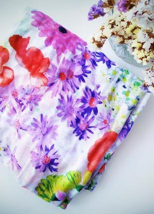 Милый лёгкий шарф в цветочек