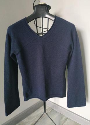 Распродажа!итальянская шерстяная кофта-пуловер kookai