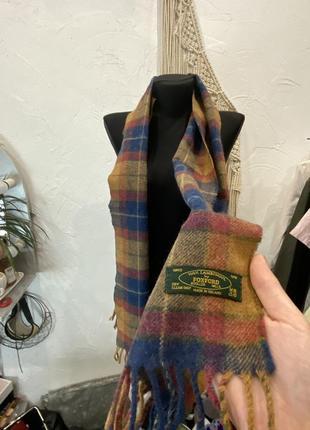 Шерстяной шарф в клеточку foxford в коричневой гамме