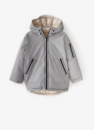 Двухсторонняя куртка zara демисезонная весна деми