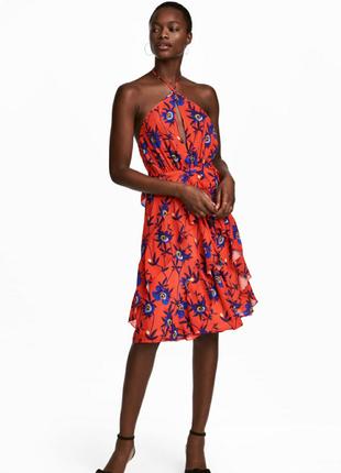 Яркий сарафан платье цветы h&m