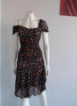 Diana von furstenberg яркое шелковое платье