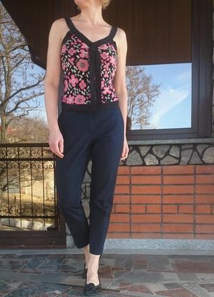 Warehouse 100% натуральный шелк майка-блуза