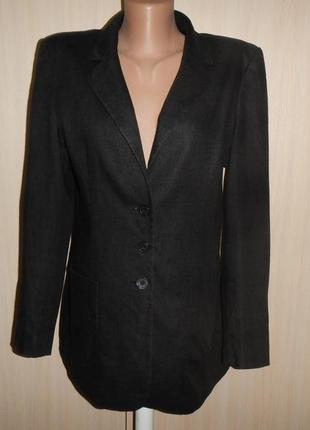 Льняной пиджак жакет marks & spencer p.12