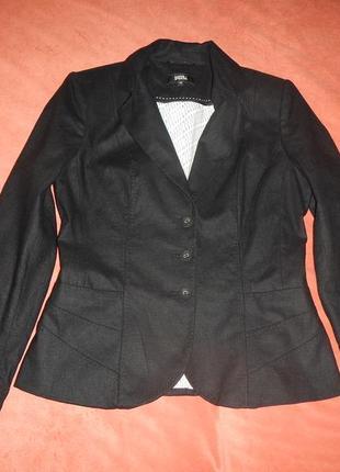 Льняной пиджак жакет marks&spencer р.12