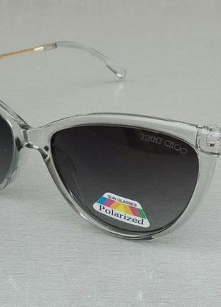 Jimmy choo очки женские солнцезащитные поляризированые в серой прозрачной оправе